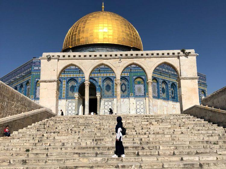 Coupole en or dôme du rocher en palestine