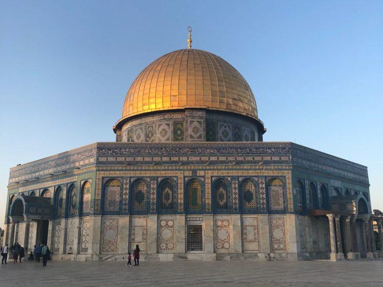 Le dôme du rocher en Palestine