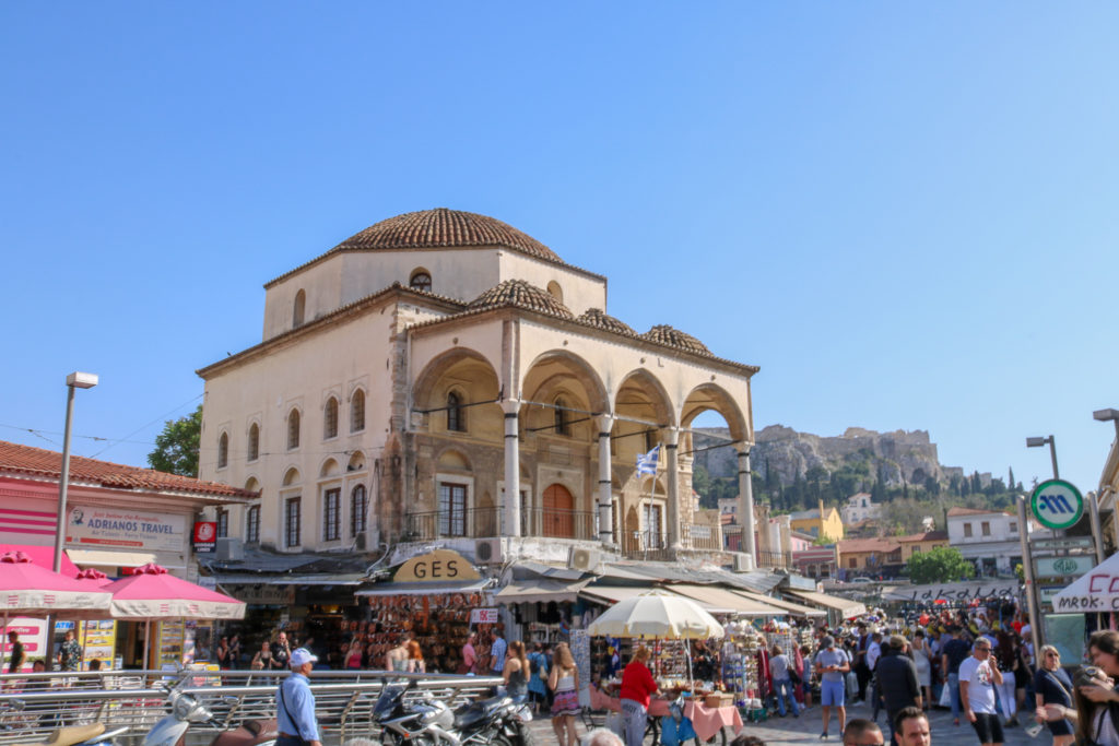 Que faire à AThènes en une journée ? Le quartier Monastiráki/ La mosquée Tzistarakis