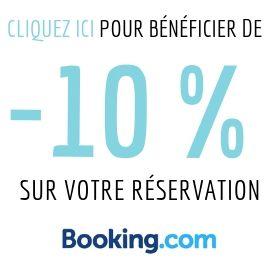 Bénéficiez d'une réduction de 10% sur votre réservation BOOKING.COM