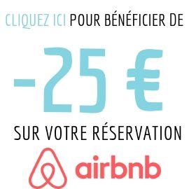 25 euros de remise sur votre prochaine réservation Airbnb code promo