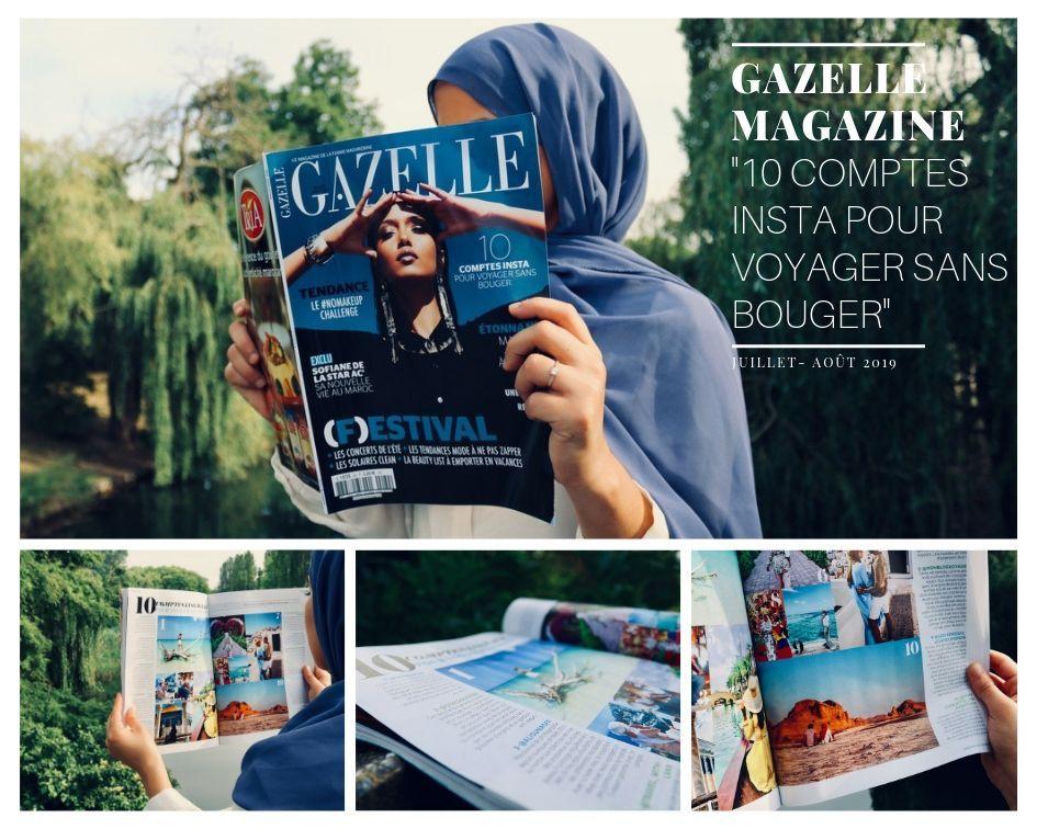 QDH apparaît dans le magazine Gazelle Mag